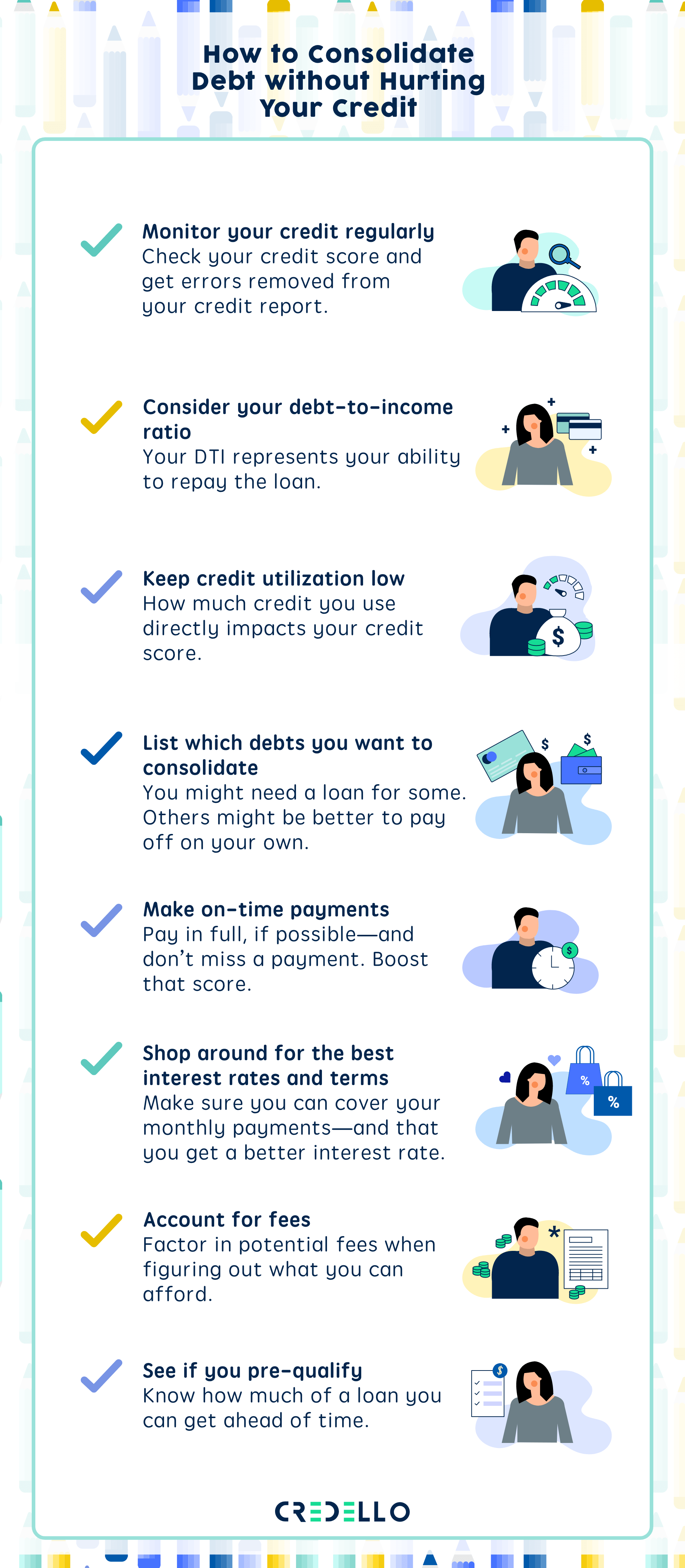how to consolidate debt without hurting your credit