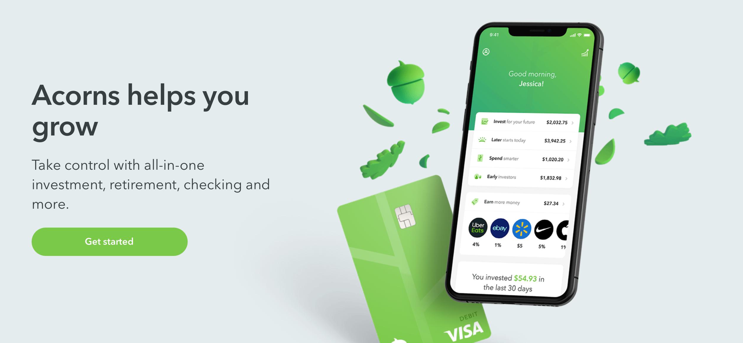 Acorns personal finance app