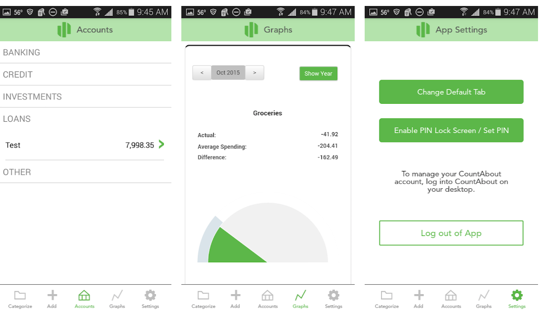 Countabout personal finance app