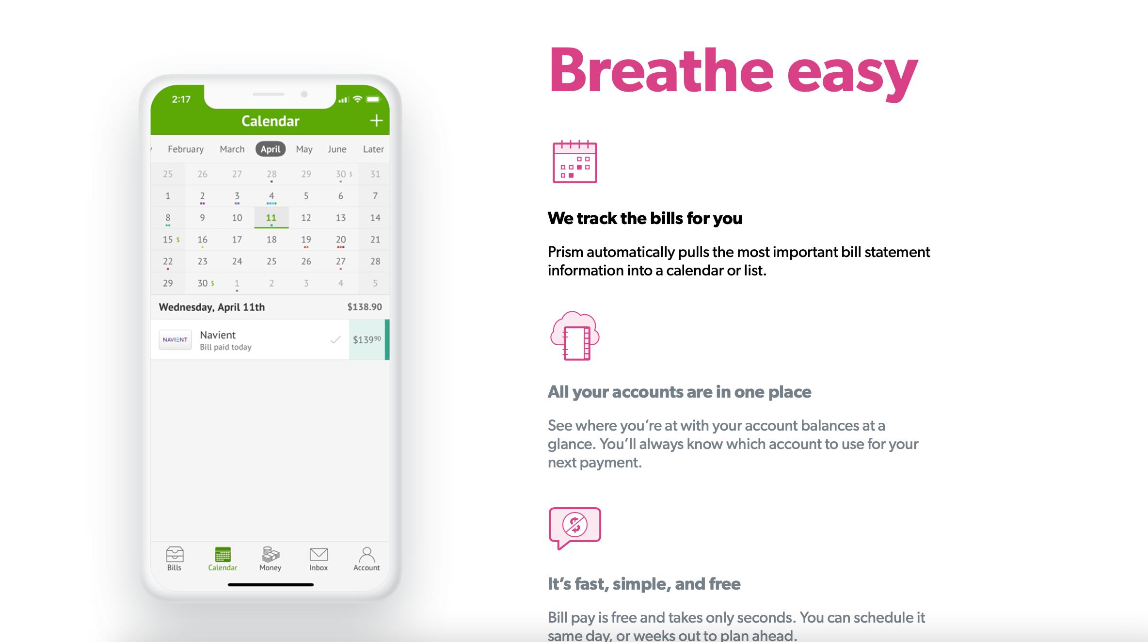 prism personal finance app
