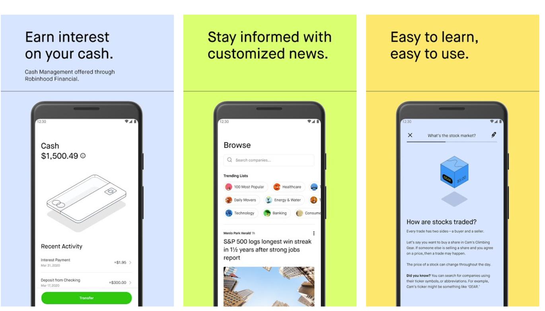 Robinhood personal finance app